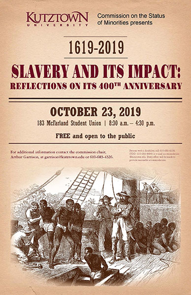 Slavery and Its Impact: Reflections on its 400th Anniversary