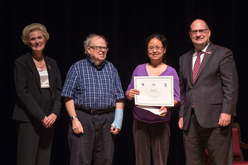 Dr. Lu winning the Chambliss Award