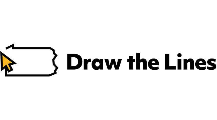 Draw the Lines PA logo