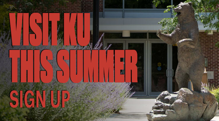 bear statue holding up the mascot avalanche