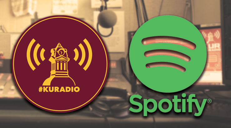 Logos of KUR and Spotify next to each other.